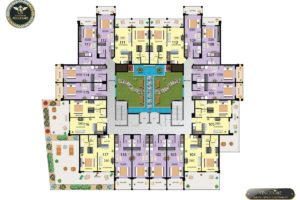 Vincitore Boulevard first floor plan