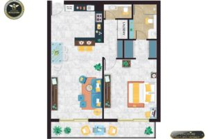 Vincitore Boulevard 1-BHK layout